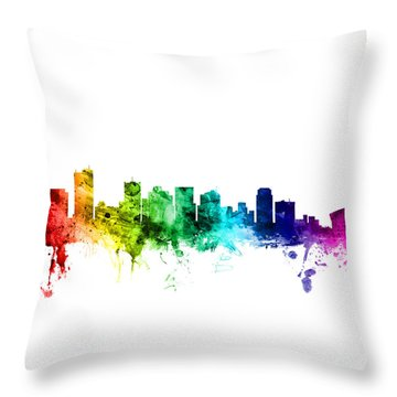 Phoenix Arizona Skyline Throw Pillow by Michael Tompsett