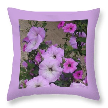 Pink Flowers  Throw Pillow by Sobajan Tellfortunes