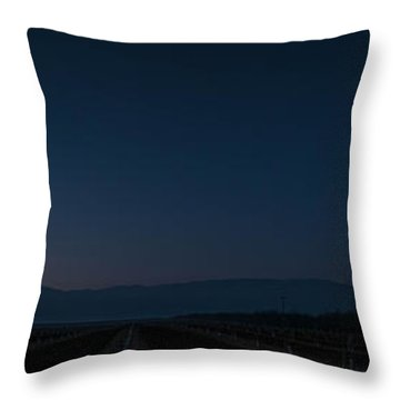 5 Planet Alignment Panorama Throw Pillow