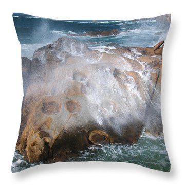 Point Lobos Concretions Throw Pillow