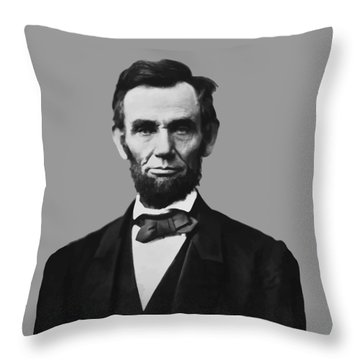 President Lincoln Throw Pillow