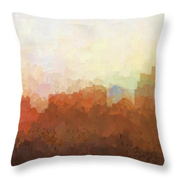 Throw Pillow featuring the digital art Reno Nevada Skyline by Marlene Watson