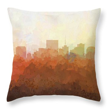 Throw Pillow featuring the digital art Richmond Virginia Skyline by Marlene Watson