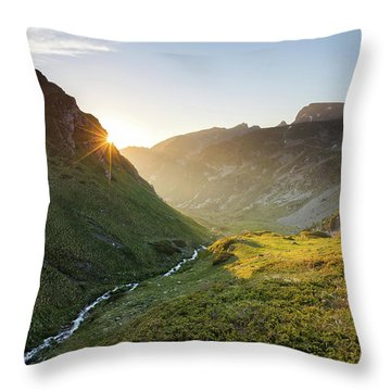 Rila Mountain Throw Pillow by Evgeni Dinev