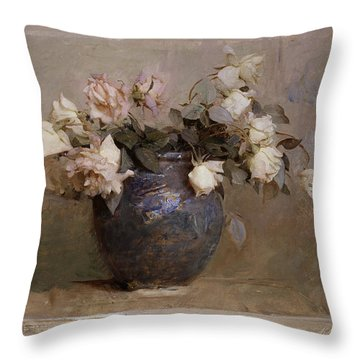 Roses Throw Pillow by Abbott Handerson Thayer