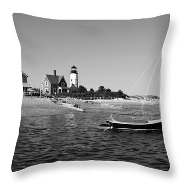 Throw Pillow featuring the photograph Sandy Neck Lighthouse by Charles Harden