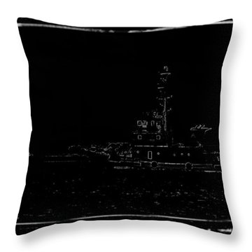Ship Throw Pillow by Shunsuke Kanamori