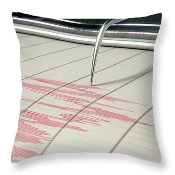Seismograph Earthquake Activity Throw Pillow