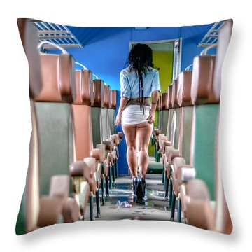 Take A Litte Trip Throw Pillow