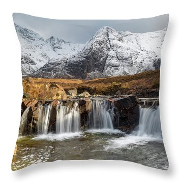 The Fairy Pools, Isle Of Skye Throw Pillow