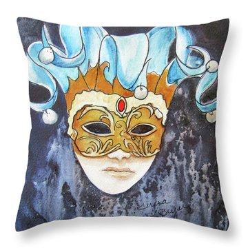 #5 The Joker Throw Pillow