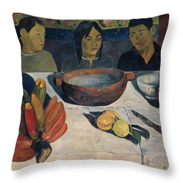 The Meal   Throw Pillow