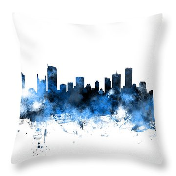 Vancouver Canada Skyline Throw Pillow