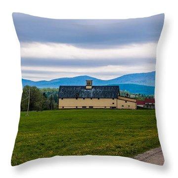 Vermont Dairy Farm Throw Pillow