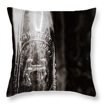 Vintage Beer Bottle #0854 Throw Pillow