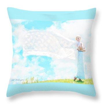 Vintage Val Magnolias Throw Pillow