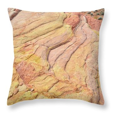 Throw Pillow featuring the photograph Waves Of Color In Valley Of Fire by Ray Mathis