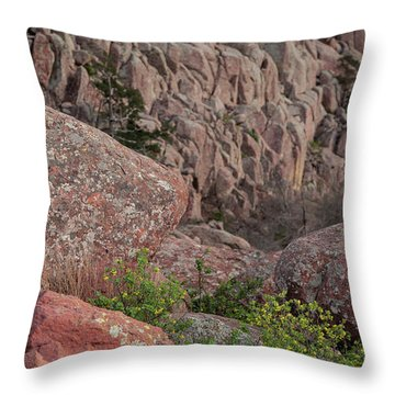 Throw Pillow featuring the photograph Wichita Mountains by Iris Greenwell