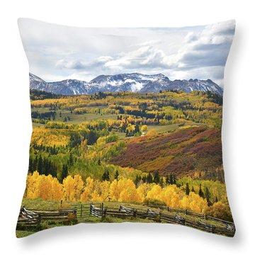 Wilson Mesa Ranch Loop Road Throw Pillow