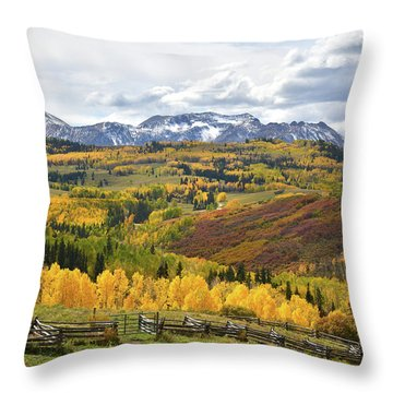 Wilson Mesa Ranch Loop Road Throw Pillow