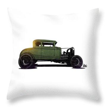 5 Window Hot Rod Throw Pillow