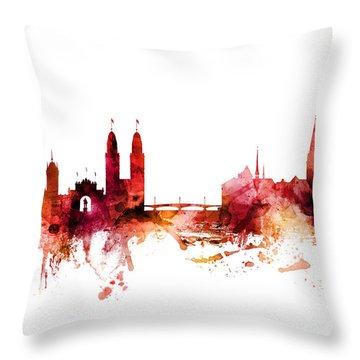 Zurich Switzerland Skyline Throw Pillow