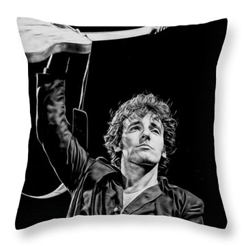 Bruce Springsteen Collection Throw Pillow