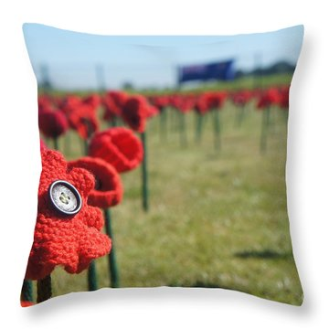 5000 Poppies Throw Pillow
