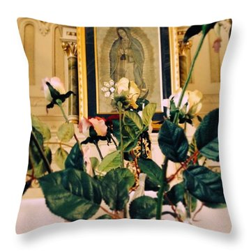 Flowers Of Prayer Throw Pillow