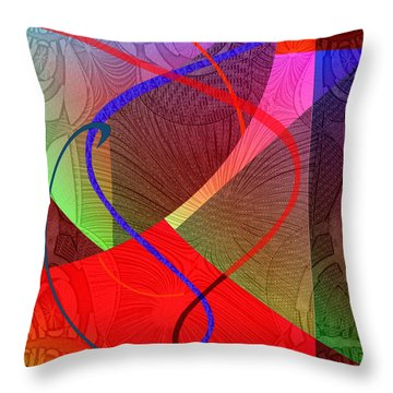 504 - Patterns  2017 Throw Pillow by Irmgard Schoendorf Welch