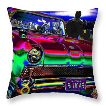 50s At The Drive-in Throw Pillow