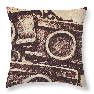 50s Brownie Cameras Throw Pillow