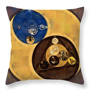 Throw Pillow featuring the photograph Abstract Painting - Zinnwaldite Brown by Vitaliy Gladkiy