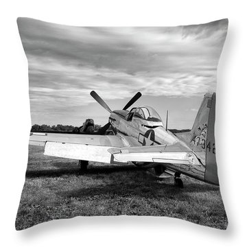 Throw Pillow featuring the photograph 51 Shades Of Grey by Peter Chilelli