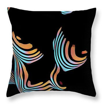 5126s-mak Large Breasts Ribs Abstract View Rendered In Composition Style Throw Pillow