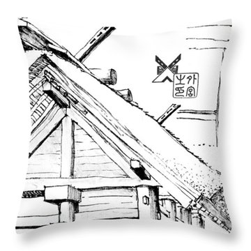 5.14.japan-3-detail-a Throw Pillow