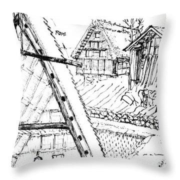 5.15.japan-3-detail-b Throw Pillow