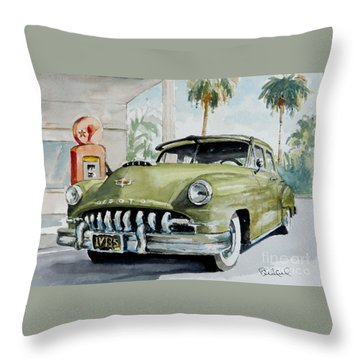 '52 Desoto Throw Pillow