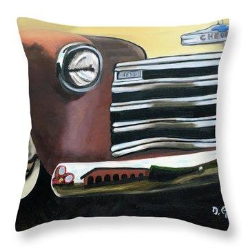 53 Chevy Truck Throw Pillow