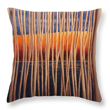 54 Trees Throw Pillow