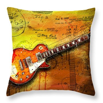55 Sunburst Throw Pillow by Gary Bodnar