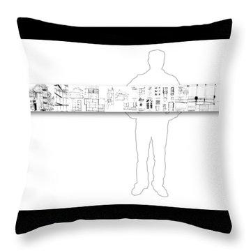 5.5.japan-2-horizontal-with-figure Throw Pillow