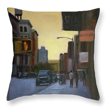 55th And 5th Throw Pillow