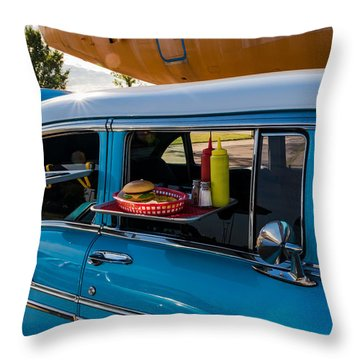 Throw Pillow featuring the photograph 56 Chevy by Jay Stockhaus