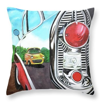 56 Chevy Reflections Throw Pillow