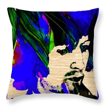 Eric Clapton Collection Throw Pillow by Marvin Blaine