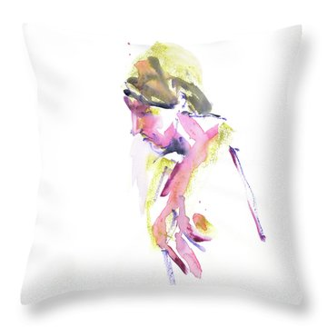 Throw Pillow featuring the mixed media Rcnpaintings.com by Chris N Rohrbach