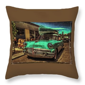 57 Buick - Just Coolin' It Throw Pillow