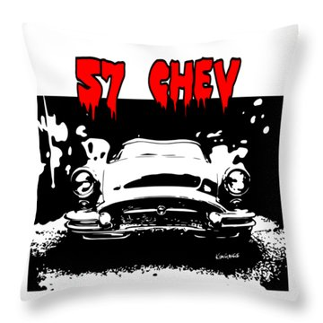 57 Chev Throw Pillow