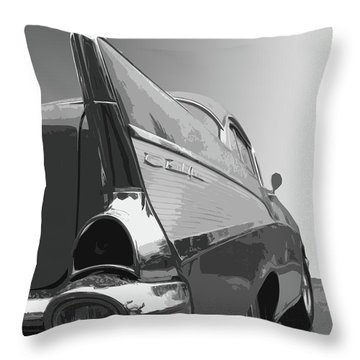 57 Chevy Verticle Throw Pillow